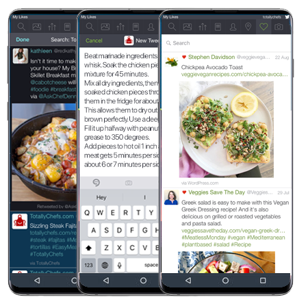UberSocial (formerly Twidroyd) is the leading full-featured Twitter client for Android. Powerful, customizable and easy to use. UberTabs allows you to compose a Tweet or view your notifications with just 1-click.