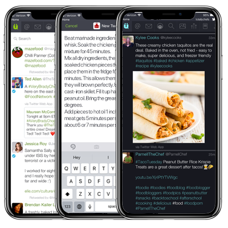 UberSocial, the leading independent Twitter app, is now available for iOS. UberTabs allows you to compose a Tweet or view your notifications with just 1-click